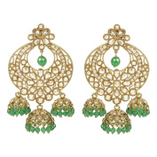 MUCHMORE Indian Unique style Gold Plated Party Wear Polki/Jhumka Earring Jewellery For Women