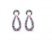 Earrings LUXENTER trarath Silver Rose Gold Vermeil and CZ eq106r20