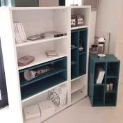 Shelf / Bookshelf BACCA, White, 4 compartments 42.7 x 35 x 59.5 CM