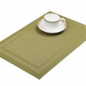 Xuan - worth having Placemat Western mats PVC material Western insulation pad Rectangular 1 pcs Stripes (45 * 30 cm) Placemats