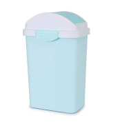 Wastebasket,Plastic waste bins with lids for bathrooms Rectangle trash can in home & kitchen-C