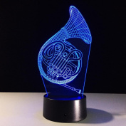 Sachs 3D LED Lamp 7Colorful Art Sculpture Lights Decoration 3D Optical Illusion Lamp with Touch Button USB Lamp Gifts