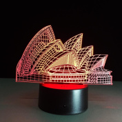 Fantastic architecture 3D LED Lamp 7Colorful Art Sculpture Lights Decoration 3D Optical Illusion Lamp with Touch Button USB Lamp Gifts