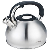 Klaus Hill Stainless Steel Whistling Kettle Teapot Kettle 2.8 Litre Compact Camera 7205