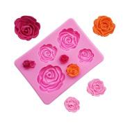 BEAUTY'S CASTLE DIY 3D Rose Handmade Soap Mould,Silicone Mould Fondant Mould,Chocolate Cake Mould Decorating,Fondant Baking Tool