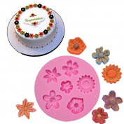 BEAUTY'S CASTLE DIY 3D Small Flowers Handmade Soap Mould,Silicone Mould Fondant Mould,Chocolate Cake Mould Decorating,Fondant Baking Tool
