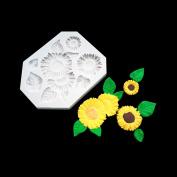 BEAUTY'S CASTLE DIY 3D Sunflower Handmade Soap Mould,Silicone Mould Fondant Mould,Chocolate Cake Mould Decorating,Fondant Baking Tool