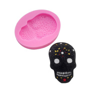 BEAUTY'S CASTLE DIY 3D Skull Handmade Soap Mould,Silicone Mould Fondant Mould,Chocolate Cake Mould Decorating,Fondant Baking Tool