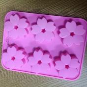 Drawihi 6 Grid Silicone Sakura Schokoladenform Practical DIY Handmade Soap Moulds Jelly Mould Cake Mould Baking Tools