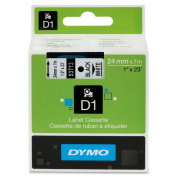 Dymo D1 Electronic Tape Cartridge - 2.5cm Width x 7m Length - White - 1 Each