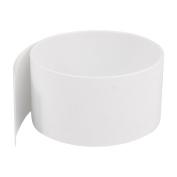 2m 50mm Flat 32mm Dia PVC Heat Shrink Tubing White for 2 x 18650 Battery