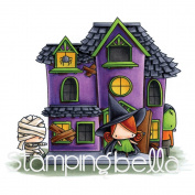 Stamping Bella Rubber Stamp - TL Haunted House Scene