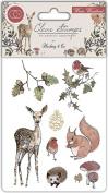 Craft Consortium A5 Winter Wonderland Clear Stamps-8 Stamps/Pkg