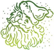 Ultimate Crafts Look Like Christmas Hotfoil Stamp 5.6cm x 5.3cm -Santa