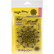 Waffle Flower Crafts Clear Stamps, 10cm x 15cm , Lacy Flower