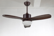 Ceiling Fan Lamp Fan Chandelier 110cm Wood Leaf Light