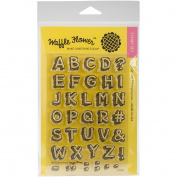 Waffle Flower Crafts Clear Stamps 10cm x 15cm -Sketchy Alphabet