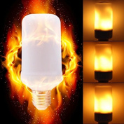 LED Flame Effect Light Bulb, STARRYOL LED Flickering Flame Light Bulbs, E27 Creative Lights with Flickering Emulation Atmosphere Decorative Lamps for Party,Bar,Wedding,Festival Decoration