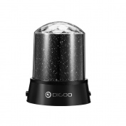 DIGOO DG-SNL Stage Lamp, Projector Lamp Light Play Party Colourful LED 2-in-1 Model Party Light with 360 Degree Rotation, 4 Led Bead 4 Lighting Colour Changing Disco DJ Party