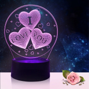 2018 Spring I love you 3D colour light creative touch remote control lamp energy-saving LED night vision lamp holiday promotional gifts USB / battery universal lighting 3D lights