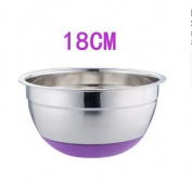 SELLIFY Mixing Bowl Stainless steel Basin Round Silicone Basin w/Cover Kitchen Home Thickening Deepening Salad oil Baking Egg Bowl