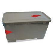 Boardwalk Microfiber Charging Bucket, 22.7l Polypropylene, Grey, 11 x 21 x 11 1/2