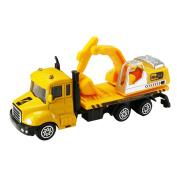 Pu Ran Mini Aerial Ladder Fire Truck Simulation Car Model Children Kids Toy - 2#