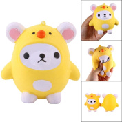 Squishy Slow Rising Toy, Indexp Cute Elastic Anti Stress Relief Scented Squeeze Fun Doll Gift for ADHD