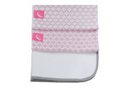 Motherhood 3 in 1 Breathable Waterproof Baby Changing Mat and 2 Foam Pads, 50 x 60 cm Pink Classics 2017