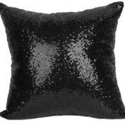 CHUANGLI Cushion Cover Pillow Case Solid Colour Glitter Sequins Throw Pillow Case Cafe Home Decor