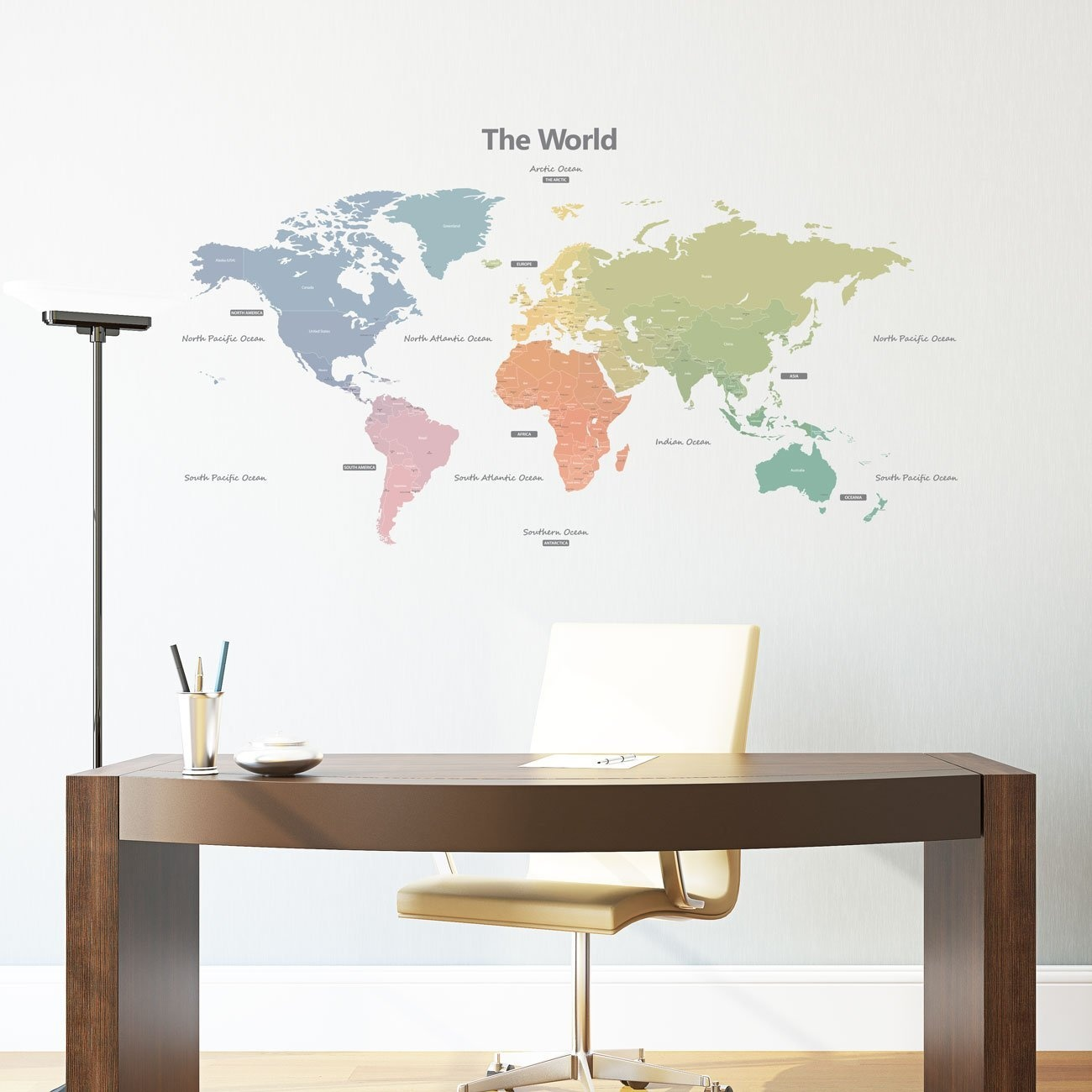 World map wall decal baby buy online from fishpond publicscrutiny Images