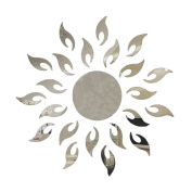 Souarts Removable Silver Sunflower Patern Acrylic Mirror Wall Stickers for Kids Home Decoration