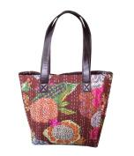 Woman's Shoulder Bag Knatha Massanger Handbag Cotton Shopping Brown Fashion Bag