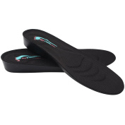footinsole 2.5cm Height Increase Shoe Insoles, Small - Black