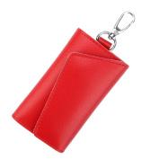17YEARS Men's Multifunctional Faux Leather Car Key Case Women's Holder Pouch Wallet