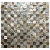 Art3d Oyster Mother of Pearl Mosaic Wall Tiles, 30cm x 30cm Chess Board