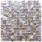 """Art3d Oyster Mother of Pearl Square Shell Mosaic Tile for Kitchen Backsplashes, 12"""" x 30cm"""