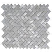 Art3d Mother of Pearl White Shell Mosaic Tile for Kitchen Backsplashes, Bathroom Walls, Spas, Pools, 30cm x 30cm Groutless