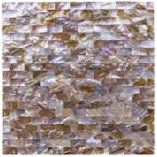 Art3d Mother of Pearl Mosaic Tile for Kitchen Backsplashes, Shower Walls, Pool Tile, Colourful Subway, 30cm x 30cm