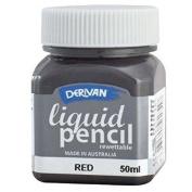 Derivan LP5RR 50ml Rewettable Red Liquid Pencil