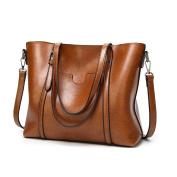 KAMIERFA Tote Bags for Women Designer Italian PU Leather Large Capacity Classic Ladies Tote Handbags Cross Body Shoulder Bags for Work Travel Satchels for Girls