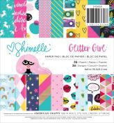 Shimelle Glitter Girl Paper Pad 15cm x 15cm 36/Pkg-18 Designs/2 Each