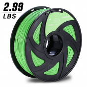 3D MARS Green PLA 1.75mm 3D Printing Filament 3D Printer Filament,Dimensional Accuracy +/- 0.05mm,2.99 LBS Roll Filament (about 1.36KG with Spool) for Most 3D Printer & 3D Printing Pen