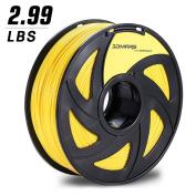 3D MARS Yellow 3D Printing Filament, 1.75mm PLA 3D Printer Filament ,Dimensional Accuracy +/- 0.05mm,1.4kg Spool for Most 3D Printer & 3D Printing Pen