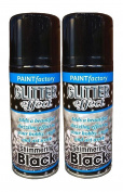 2 X Glitter Black Effect Spray Paint Decorative Creative Art Crafts Frames Hobby