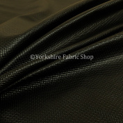 Mini Quilted Textured Plain Durable Leather In Black Vinyl Upholstery Fabric
