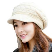 Fashion Women Winter Warm Knitted Hat Skullies Ladies Beanies Hats Casual Cap