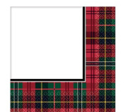 Traditional Christmas Party Celebration Decoration Paper Tableware Scottish Tartan Red Green Cups Plates Napkins Tablecover