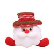 ZHOUBA Christmas Gift LED Santa Snowman Deer Bear Glow Flashing Cartoon Brooch Badge Toy