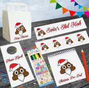 Emoji Christmas Santa Poop / Poo Party Goody Loot Bag With Fillers - Xmas Parties - Stocking Filler - Santa Gift - Elf Gift